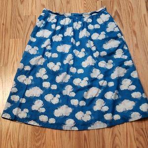 Sz 8 Cath Kidston CLOUDS Full Skirt, SKY